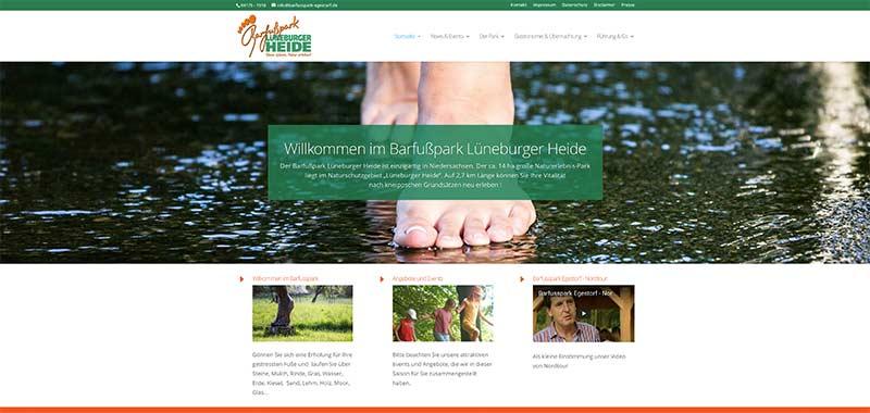 Barfusspark Egestorf – Relaunch geht online