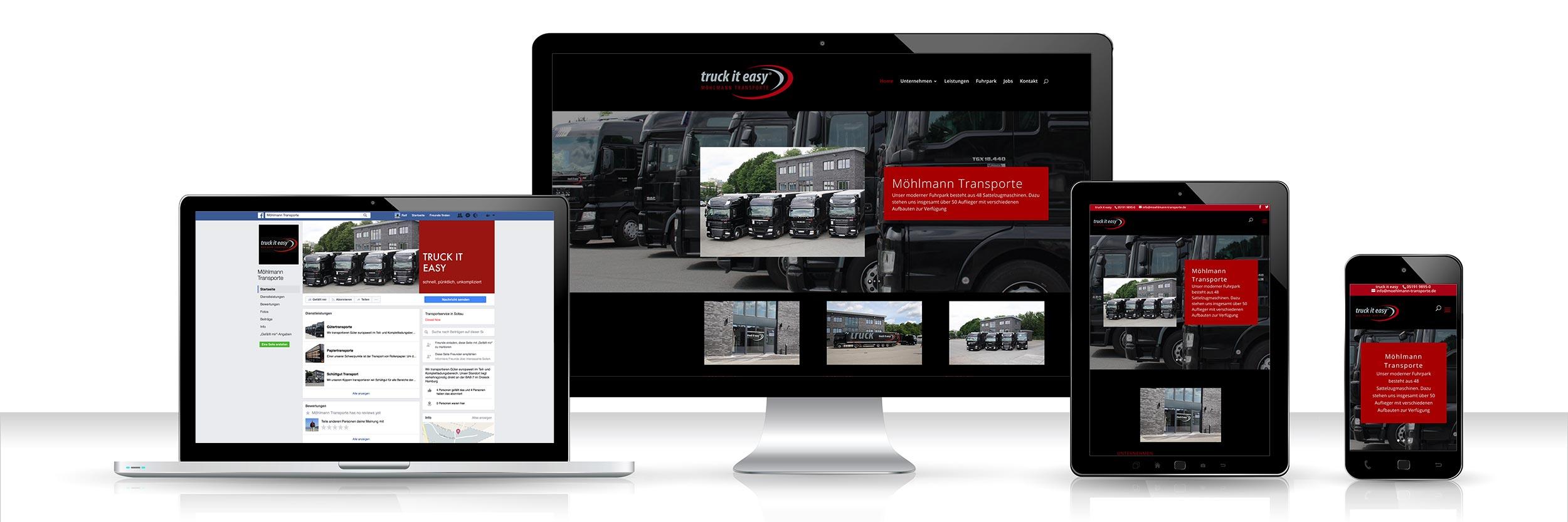 Webdesign Möhlmann Transporte