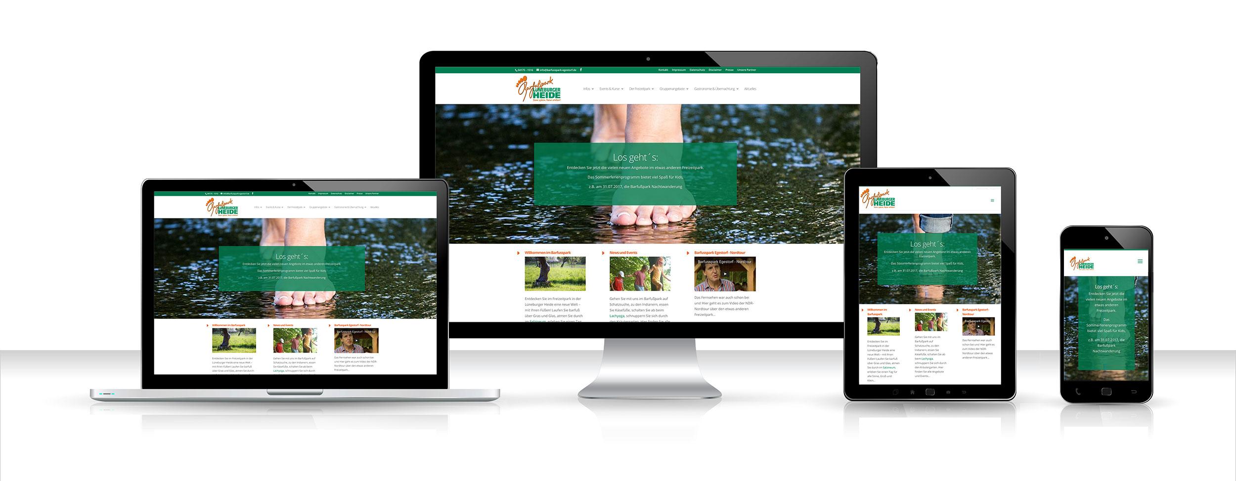 Webdesign, Barfusspark Egestorf