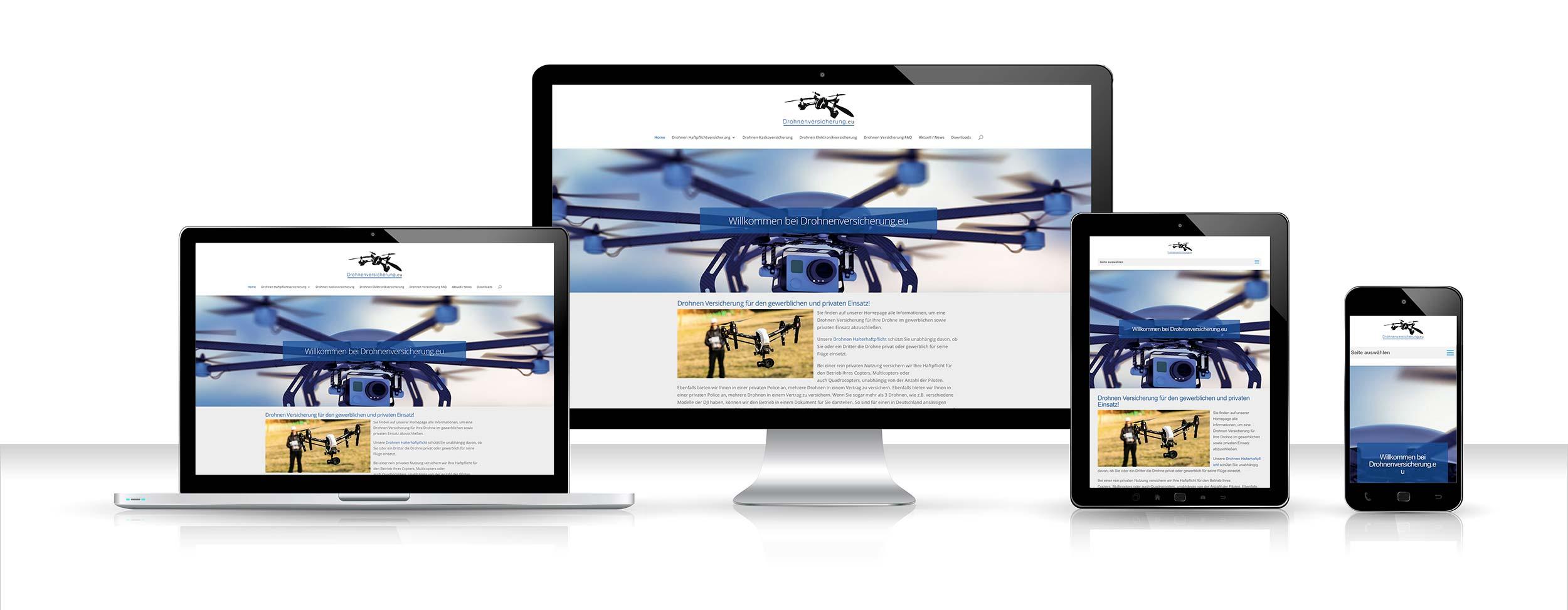 Webdesign Drohnenversicherung
